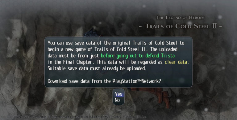 What's new with The Legend of Heroes: Trails of Cold Steel II